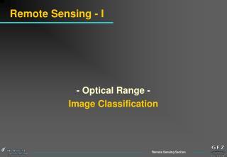 Remote Sensing - I
