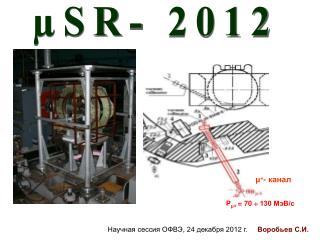 µSR- 2012