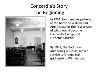 Concordia's Story The Beginning