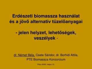 dr. Német Béla,  Csete Sándor, dr. Borhidi Attila,  PTE Biomassza Konzorcium