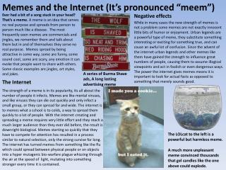 "Memes and the Internet (It's pronounced ""meem"")"