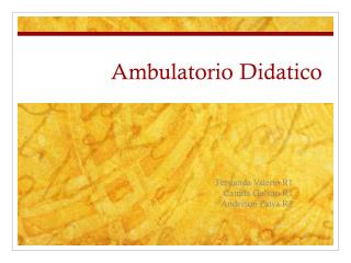 Ambulatorio Didatico