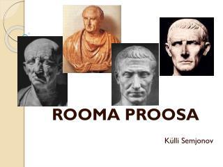 ROOMA PROOSA Külli Semjonov
