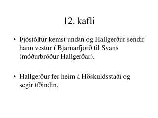 12. kafli