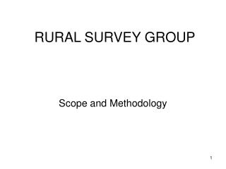 RURAL SURVEY GROUP