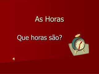 As Horas
