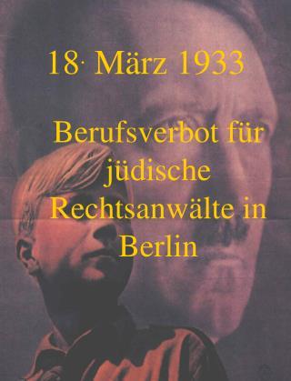 18 .  März 1933