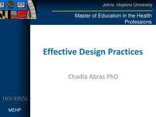 Effective Design Practices