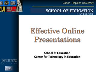 Effective Online Presentations