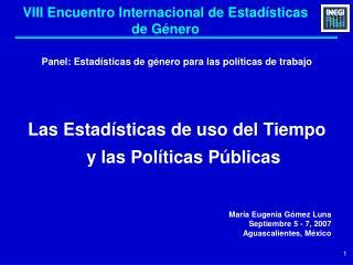 VIII Encuentro Internacional de Estadísticas de Género