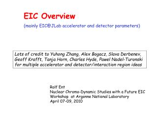 EIC Overview