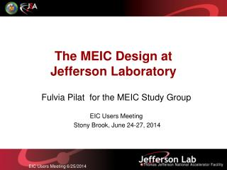 The MEIC Design at Jefferson Laboratory