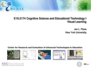 E19.2174 Cognitive Science and Educational Technology I Visual Learning
