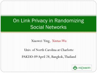 On Link Privacy in Randomizing Social Networks