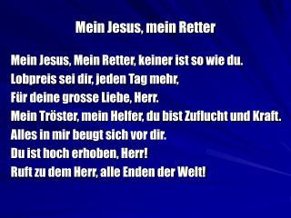 Mein Jesus, mein Retter