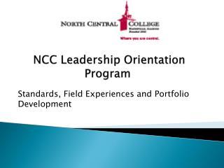 NCC Leadership Orientation Program