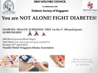 SIKH WELFARE COUNCIL  in collaboration with Diabetic Society of Singapore