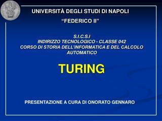 """UNIVERSIT À DEGLI STUDI DI NAPOLI """"FEDERICO II"""""""