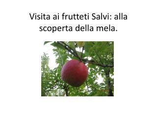 Visita ai frutteti Salvi: alla scoperta della mela.