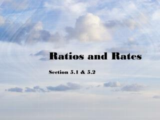 Ratios and Rates