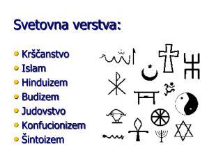 Svetovna verstva: