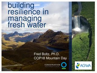 building  resilience  in managing  fresh water