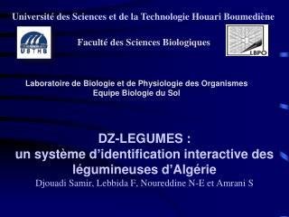 Université des Sciences et de la Technologie Houari Boumediène