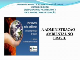 A ADMINISTRAÇÃO AMBIENTAL NO BRASIL