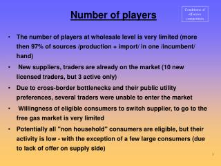 Number of players