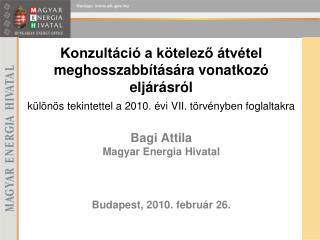 Bagi Attila Magyar Energia Hivatal Budapest, 2010. február 26.