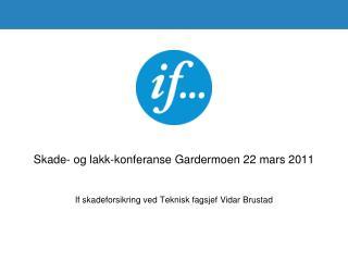 Skade- og lakk-konferanse Gardermoen 22 mars 2011