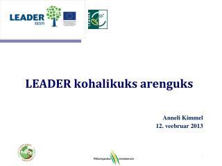 LEADER kohalikuks arenguks