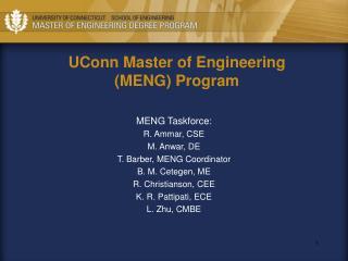 UConn Master of Engineering (MENG) Program