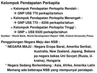 Kelompok Pendapatan Perkapita > Kelompok Pendapatan Perkapita Rendah :