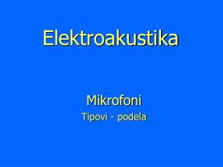 Elektroakustika