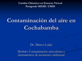 Contaminación del aire en Cochabamba
