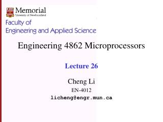 Engineering 4862 Microprocessors Lecture 26
