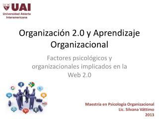 Organizaci�n 2.0 y Aprendizaje Organizacional