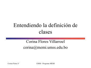 Entendiendo la definici�n de clases
