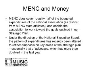 MENC and Money