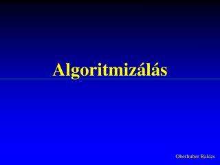 Algoritmiz�l�s