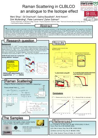 Raman Scattering in CLBLCO  an analogue to the Isotope effect