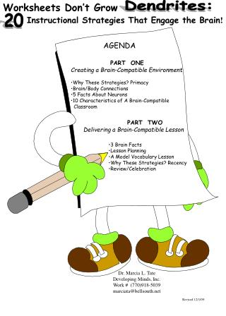 Worksheets Don t Grow          Instructional Strategies That Engage the Brain