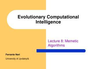 Evolutionary Computational Intelligence