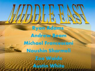 Ryan Adams  Andrew Beam  Michael Francesconi  Noushin Sharmeli  Zoe Waide  Austin White