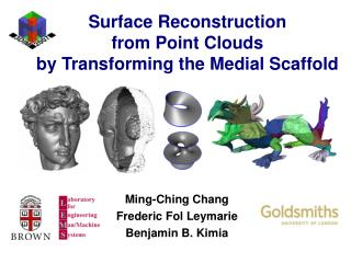 Surface Reconstruction from Point Clouds  by Transforming the Medial Scaffold