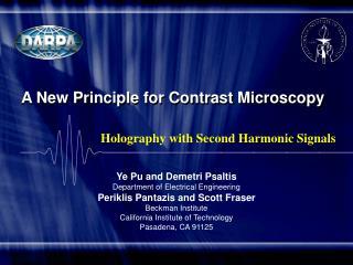 A New Principle for Contrast Microscopy
