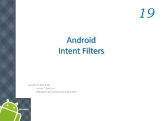 Android  Intent Filters