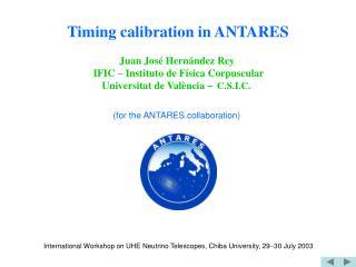 Timing calibration in ANTARES