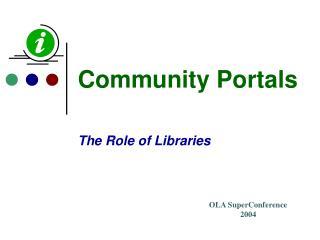 Community Portals